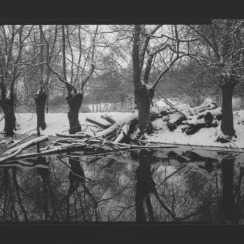 © Bogdan Konopka - Anjou, paysages eau et neige, 06.02.1966