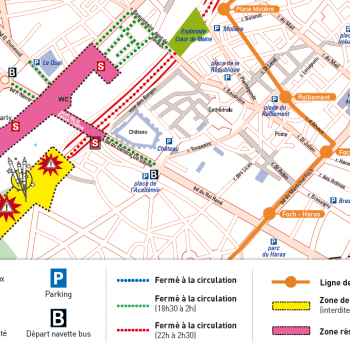 Plan de circulation samedi 13 juillet - fête nationale