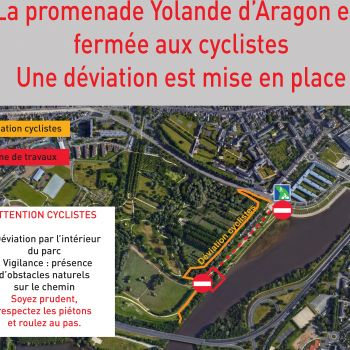 Travaux Balzac Loire à vélo alm-45x120cm